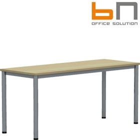 BN Easy Space Height Adjustable Rectangular Desks - Round Legs £154 - Office Desks