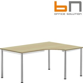 BN Easy Space Round Leg Ergonomic Desks £241 - Office Desks