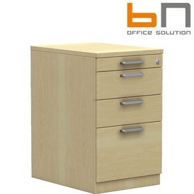 BN Easy Space Desk High Pedestal With Pencil Drawer £192 - Office Desks
