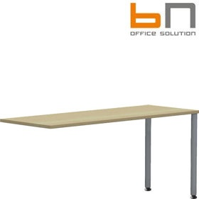 BN Easy Space Round Leg Height Adjustable Rectangular Desk Extensions £93 - Office Desks