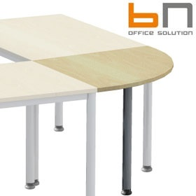 BN Easy Space Height Adjustable Round Leg 1/4 Circle Linking Unit £52 - Office Desks