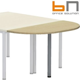 BN Easy Space Rounded Desk Extension - Round Legs £56 - Office Desks