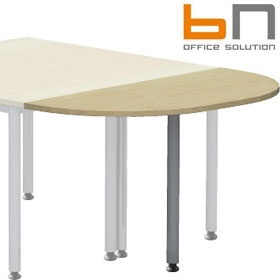 BN Easy Space Height Adjustable Rounded Desk Extension - Round Legs £76 - Office Desks