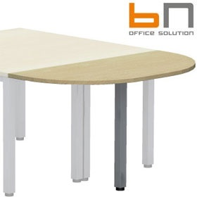 BN Easy Space Rounded Desk Extension - Square Legs £91 - Office Desks