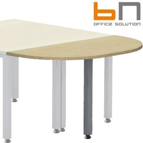 BN Easy Space Height Adjustable Rounded Desk Extension - Square Legs £96 - Office Desks