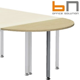 BN Easy Space Height Adjustable Semi Circular Desk Extension - Round Legs £63 - Office Desks