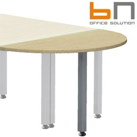 BN Easy Space Height Adjustable Semi Circular Desk Extension - Square Legs £97 - Office Desks