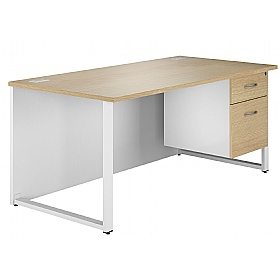 NEXT DAY Duo Single Pedestal Desk £203 - Next Day Office Furniture