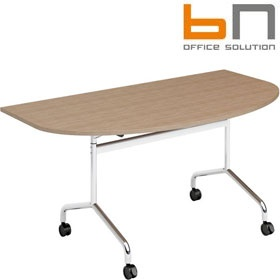 BN Flib D-Shaped Folding Meeting Tables £299 - Meeting Room Furniture