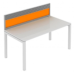 Elite Matrix Bench Acrylic System Screen With Management Rail £237 - Office Desks