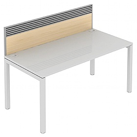Elite Matrix Bench Wood System Screen With Management Rail £214 - Office Desks