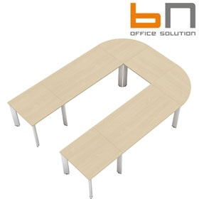 BN CX 3200 Conference Table Arrangement 5 To Seat 9 People £5064 - Meeting Room Furniture