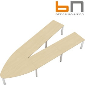 BN CX 3200 Conference Table Arrangement 7 To Seat 12 People £5278 - Meeting Room Furniture