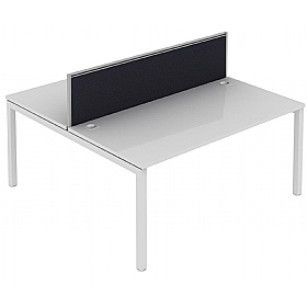 Elite Matrix Double Bench Fabric System Screen £190 - Office Desks