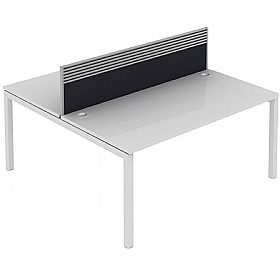Elite Matrix Double Bench Fabric System Screen With Management Rail £230 - Office Desks