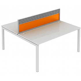 Elite Matrix Double Bench Acrylic System Screen With Management Rail £230 - Office Desks