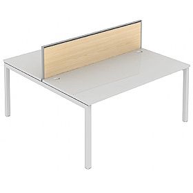 Elite Matrix Double Bench Wood System Screen £167 - Office Desks