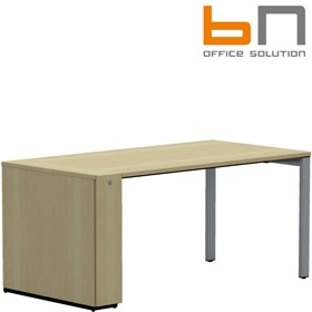 BN SQart Workstation Rectangular Desk With Desk High Organiser Tower £630 - Office Desks