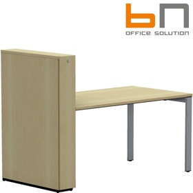 BN SQart Workstation Rectangular Desk With High Organiser Tower £762 - Office Desks
