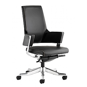 Scope Medium Back Black Enviro Leather Executive Chair £362 - Office Chairs