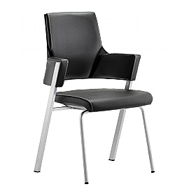 Scope Black Enviro Leather Visitor Chair £291 - Office Chairs