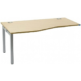 Linear Single Compact Wave Add-On Bench Desk £202 - Office Desks