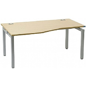 Linear Single Starter Compact Wave Bench Desk £268 - Office Desks