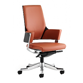 Scope Medium Back Tan Enviro Leather Executive Chair £362 - Office Chairs