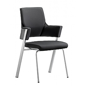 Scope Black Fabric Visitor Chair £291 - Office Chairs