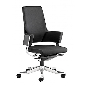 Scope Medium Back Black Fabric Executive Chair £322 - Office Chairs