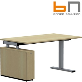 BN SQart Workstation C Leg Rectangular Desk With Low Organiser Tower £630 - Office Desks