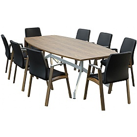 Sven Ambus Veneer Barrel V-Base Conference Tables £1064 - Meeting Room Furniture