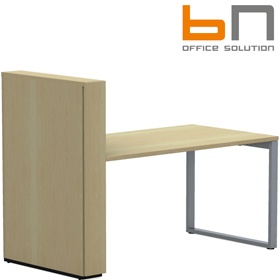 BN SQart Workstation O Leg Rectangular Desk With High Organiser Tower £782 - Office Desks