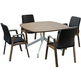 Sven Ambus Veneer Cushion V-Base Meeting Tables £777 - Meeting Room Furniture