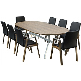 Sven Ambus Veneer D-End V-Base Conference Tables £1242 - Meeting Room Furniture
