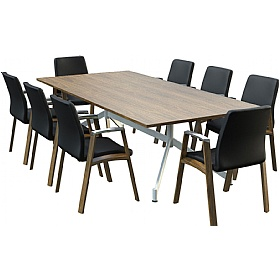 Sven Ambus Veneer Rectangular V-Base Conference Tables £991 - Meeting Room Furniture