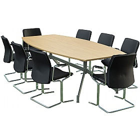 Sven Ambus Barrel V-Base Conference Tables £664 - Meeting Room Furniture