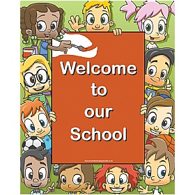 Faces Rectangular Welcome Sign £36 - Education Furniture