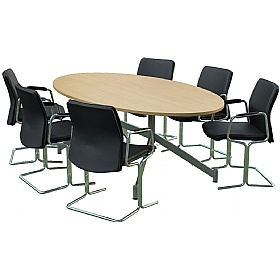 Sven Ambus Oval V-Base Conference Tables £652 - Meeting Room Furniture