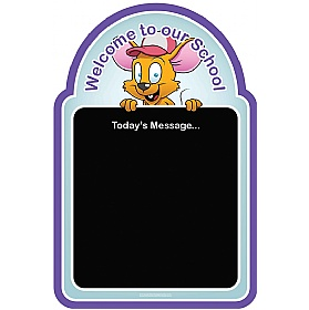 Welcome Mouse Chalkboard £36 - Education Furniture