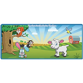 Daytime Animal Mural £105 - Education Furniture