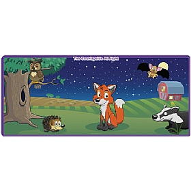 Night Time Animal Mural £105 - Education Furniture