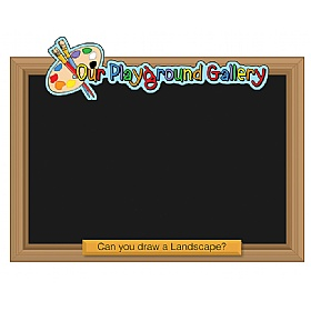 Our Gallery Landscape Chalkboard £36 - Education Furniture