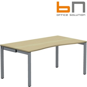 BN SQart Workstation 4 Leg Double Wave Desks £310 - Office Desks