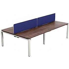 NEXT DAY Velocity Bench System Quad Desk Unit £723 - Next Day Office Furniture