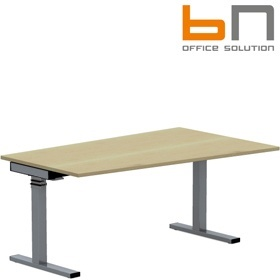 BN SQart Workstation C Leg Sloped Desks With Electrical Height Adjustment £1407 - Office Desks