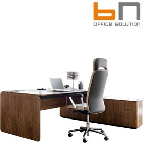 BN eRange Rectangular Managerial Desks With 1600mm Right Side Board £6161 - Office Desks