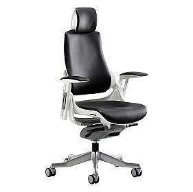 Jett Enviro Leather Task Chair With Headrest £380 - Office Chairs