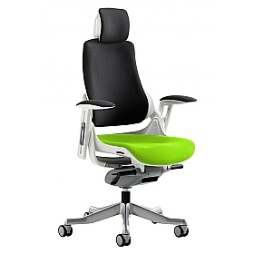 Jett Colours Two Tone Seat Task Chair With Headrest £434 - Office Chairs