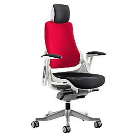 Jett Colours Two Tone Backrest Task Chair With Headrest £391 - Office Chairs
